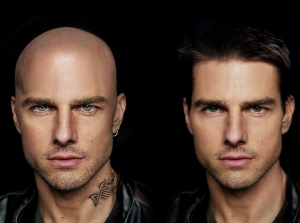 Tom Cruise bald before and after