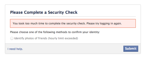 Verify took too long