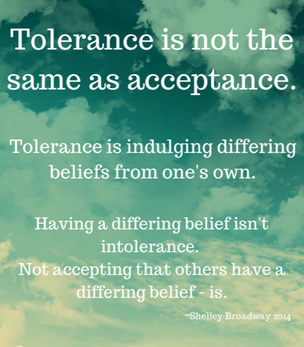 Tolerance is not the same as acceptance.-2 copy