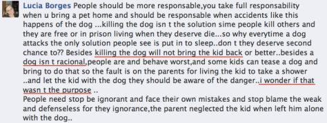 dog isn't racial - parent wanted dog to kill daughter